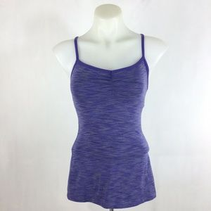 Lucy Purple Space Dye Tank Top Athletic Workout